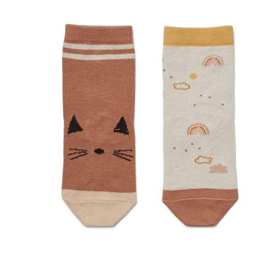 Liewood Silas cotton socks - 4 pack Safari rose mix (sokken)-3