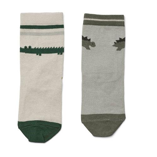 Liewood Silas cotton socks - 4 pack Safari sandy mix (sokken)-3