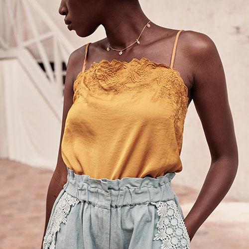 Louise Misha Women Julia Top Cinnamon (shirt)-3