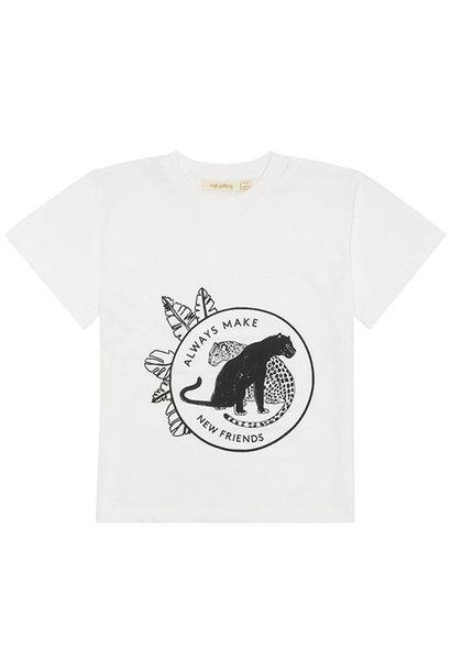 Soft Gallery Asger T-shirt Snow White, Leofriends blk (shirt)