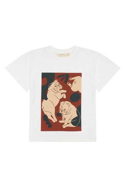 Soft Gallery Asger T-shirt Snow White, Bulldogs (shirt)