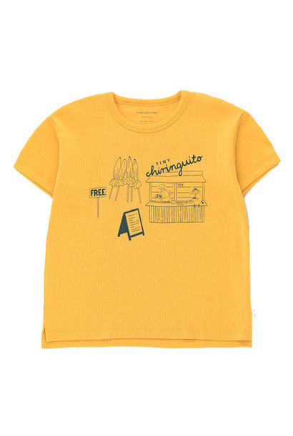 Tinycottons Central Beach Tee yellow/dark teal (t-shirt)