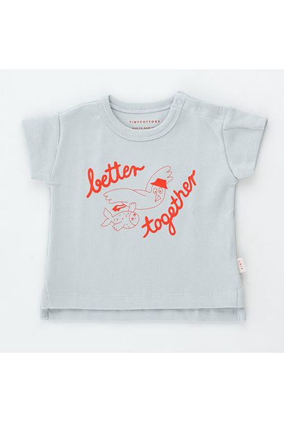 Tinycottons Better Together Baby Tee pale grey/red (t-shirt)