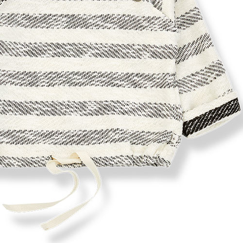 1+ in the family axel sweatshirt Rustic Striped Fleece anthracite (trui)-5