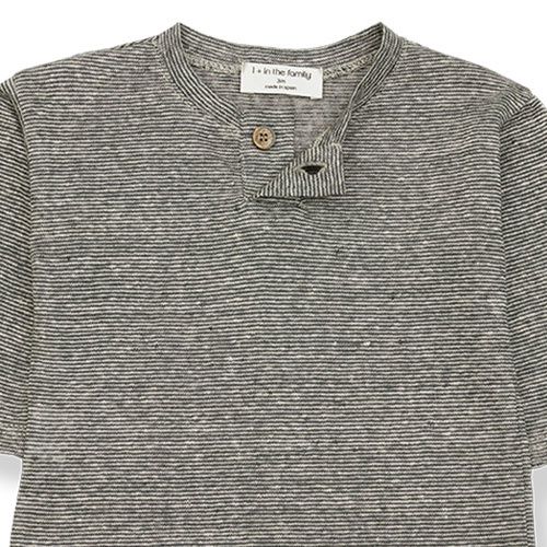 1+ in the family miki long sleeve t-shirt Striped Linen Jersey anthracite (tee)-4