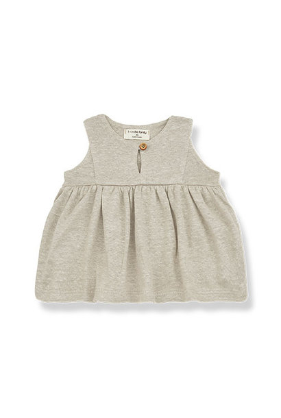 1+ in the family chloe blouse Plain Linen Jersey beige (top)