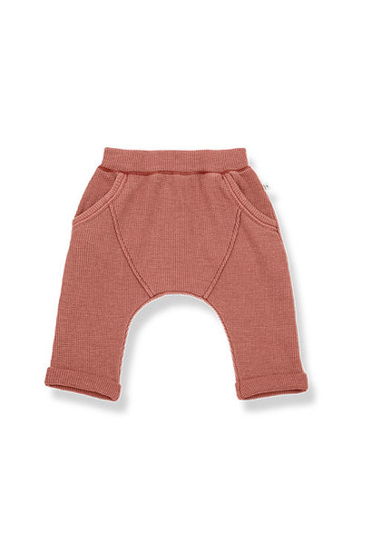 1+ in the family tomas baggy pants Soft Waffle Jersey roibos (broek)