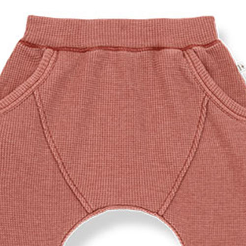 1+ in the family tomas baggy pants Soft Waffle Jersey roibos (broek)-2