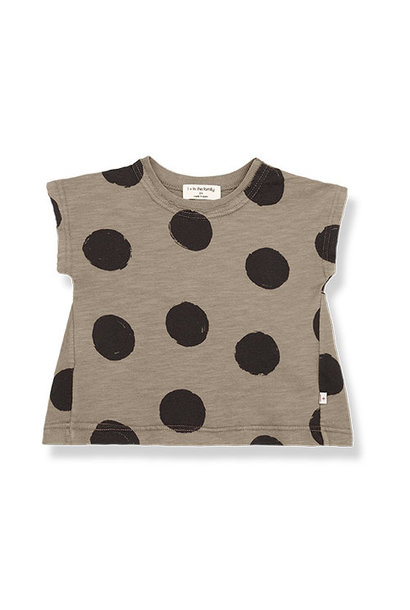 1+ in the family fiona t-shirt Dotted Slub Cotton khaki (top)