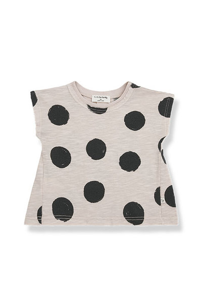1+ in the family fiona t-shirt Dotted Slub Cotton stone (top)