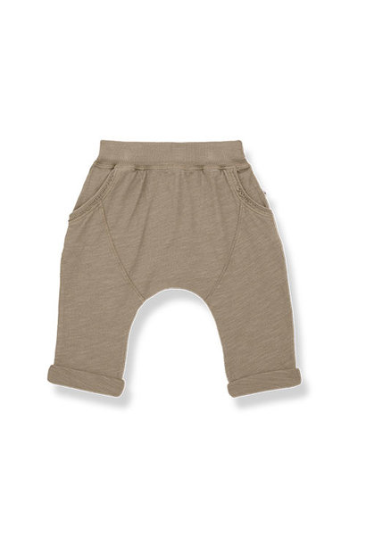 1+ in the family tommy baggy pants Slub Cotton Jersey khaki (broek)