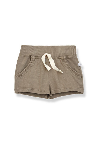 1+ in the family luis bermuda Slub Cotton Jersey khaki (shorts)