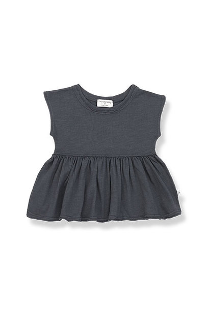 1+ in the family sara blouse Slub Cotton Jersey anthracite (top)