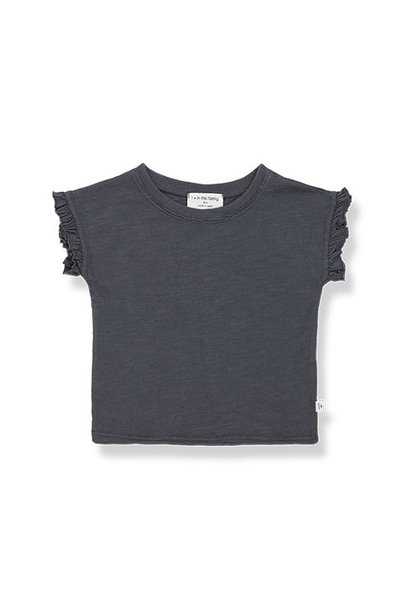 1+ in the family mireia short sleeve t-shirt Slub Cotton Jersey anthracite (shirt)