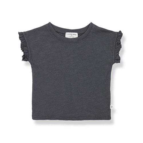 1+ in the family mireia short sleeve t-shirt Slub Cotton Jersey anthracite (shirt)-1