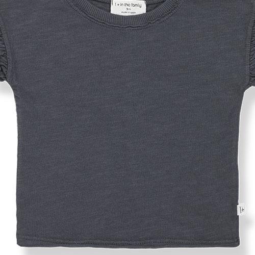 1+ in the family mireia short sleeve t-shirt Slub Cotton Jersey anthracite (shirt)-4