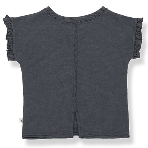 1+ in the family mireia short sleeve t-shirt Slub Cotton Jersey anthracite (shirt)-5