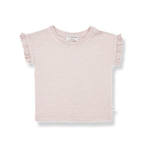 1+ in the family mireia short sleeve t-shirt Slub Cotton Jersey rose (shirt)-1
