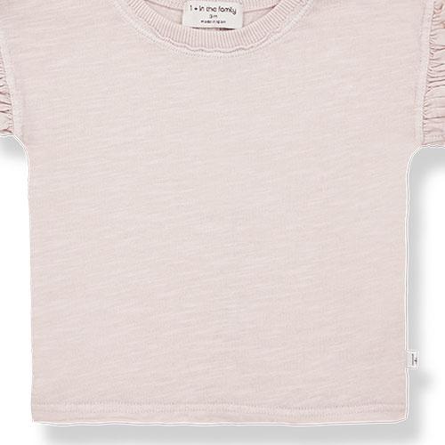 1+ in the family mireia short sleeve t-shirt Slub Cotton Jersey rose (shirt)-3