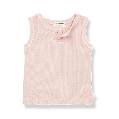1+ in the family genis tank top Rib rose (shirt)-1