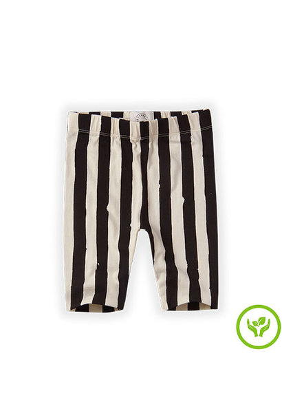 Sproet & Sprout Legging short Painted Stripe Off White (legging)