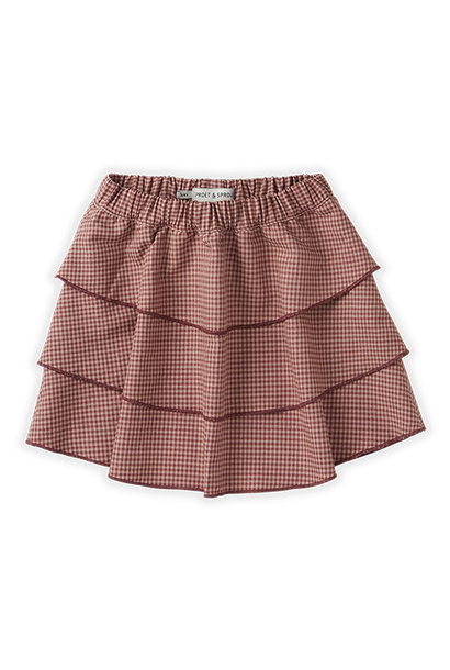 Sproet & Sprout Skirt Mini Check Rose (rok)