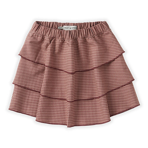 Sproet & Sprout Skirt Mini Check Rose (rok)-1
