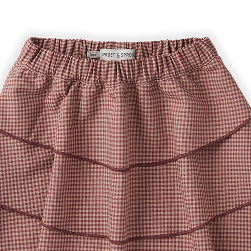 Sproet & Sprout Skirt Mini Check Rose (rok)-6