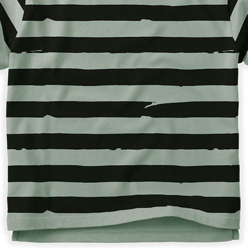 Sproet & Sprout T-shirt Painted Stripe Eucalyptus (shirt)-7