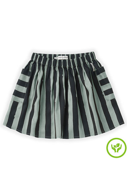 Sproet & Sprout Skirt Painted Stripe Eucalyptus (rok)
