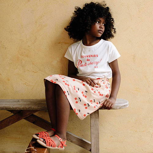 Emile et Ida Tee Shirt Ecru Coton Ete Indien (t-shirt)-5