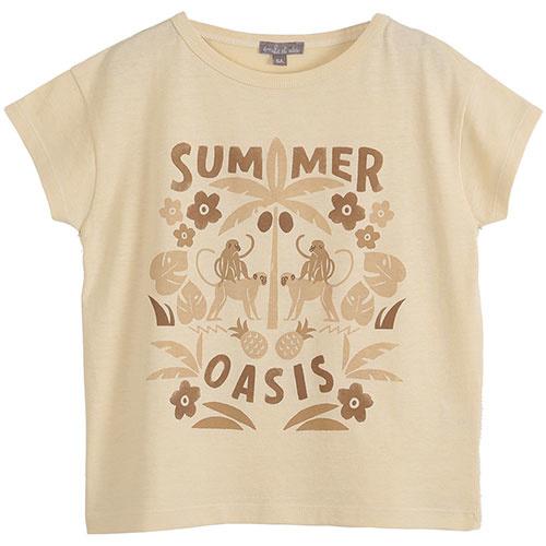 Emile et Ida Tee Shirt Vanille Coton Summer (t-shirt)-1