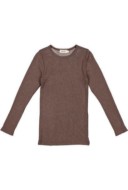 MarMar Copenhagen Tamra Wool Pointelle T-shirts Kids Girl Terre (shirt)
