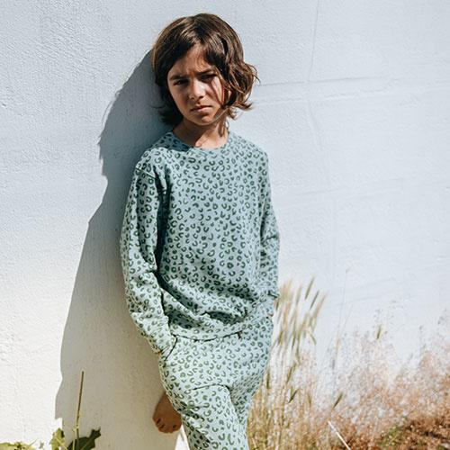 Soft Gallery Baptiste Sweatshirt Slate, AOP Leospot L (trui)-3