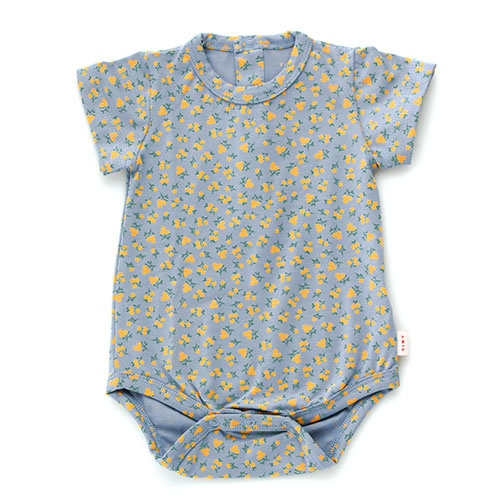 Tinycottons Small Flowers Body summer grey/honey (romper)-1