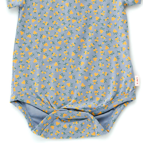 Tinycottons Small Flowers Body summer grey/honey (romper)-3