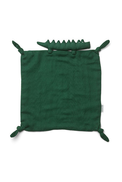 Liewood Agnete cuddle cloth Crocodile garden green (knuffeldoekje)