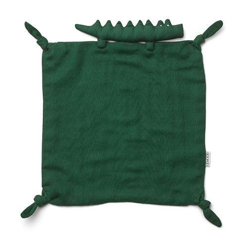 Liewood Agnete cuddle cloth Crocodile garden green (knuffeldoekje)-1