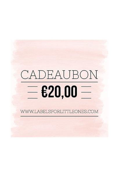 Cadeaubon €20 // Labels for Little Ones