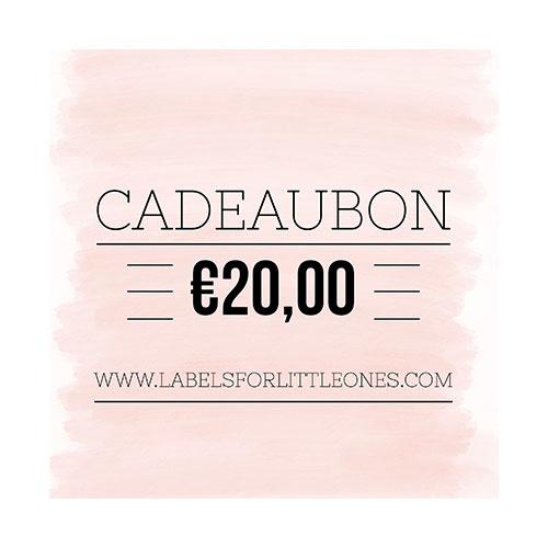 Cadeaubon €20 // Labels for Little Ones-1