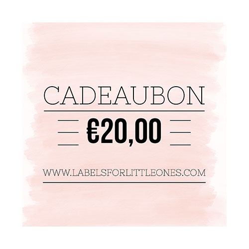 Cadeaubon €25 // Labels for Little Ones-4