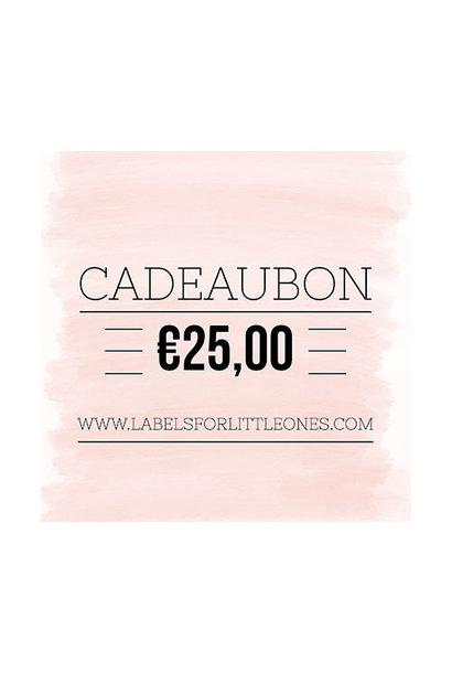 Cadeaubon €25 // Labels for Little Ones