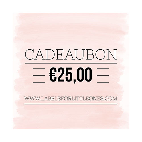 Cadeaubon €25 // Labels for Little Ones-1
