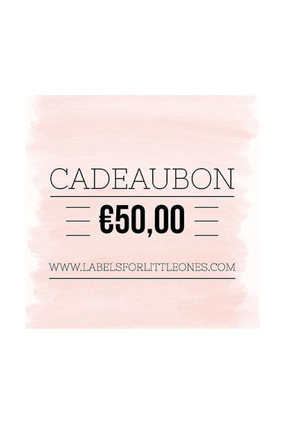 Cadeaubon €50 // Labels for Little Ones