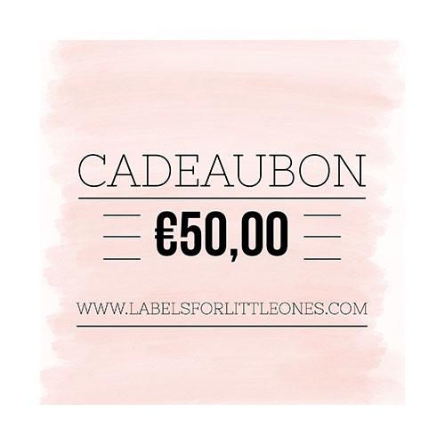 Cadeaubon €50 // Labels for Little Ones-1