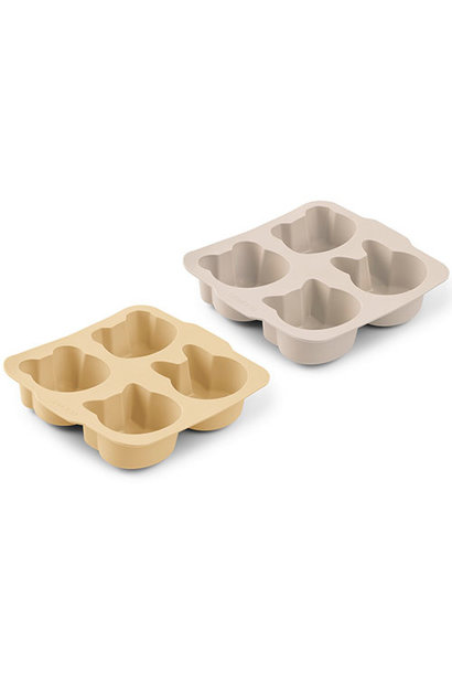 Liewood Mariam cake pan - 2 pack Wheat yellow sandy mix (bakvorm)
