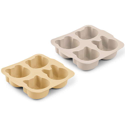 Liewood Mariam cake pan - 2 pack Wheat yellow sandy mix (bakvorm)-1