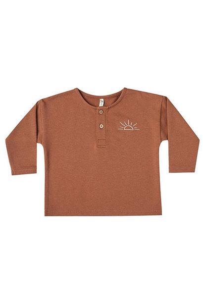 Rylee + Cru sunrise terry henley amber (shirt)