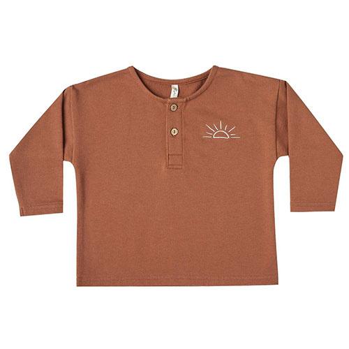 Rylee + Cru sunrise terry henley amber (shirt)-1