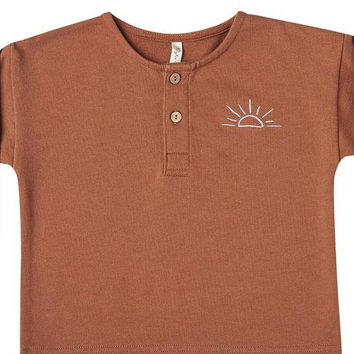Rylee + Cru sunrise terry henley amber (shirt)-2
